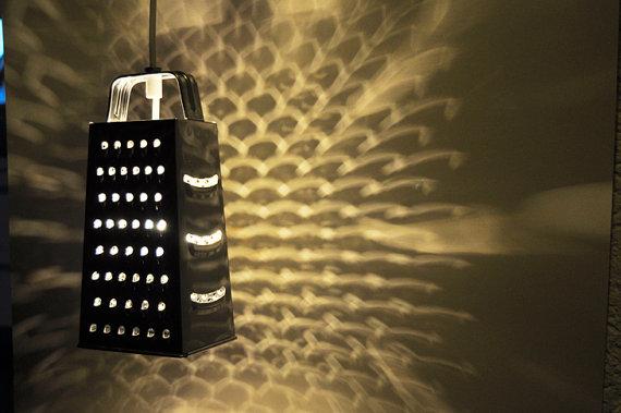 светильник из терки