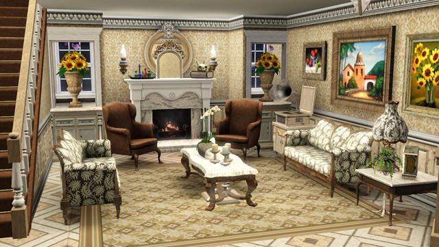 пример формления дома в компьютерной игре
